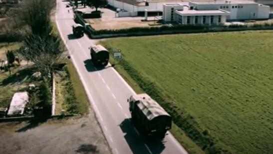 Konwoje wojskowe w Bergamo